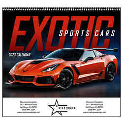 Customized Good Value™ Exotic Sports Cars Calendar (Spiral)