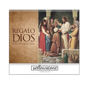 Customized Regalo de Dios Calendar w/ Funeral Planning Form