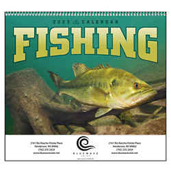 Customized Good Value™ Fishing Calendar (Spiral)