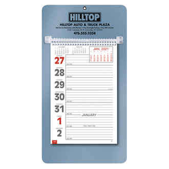 Customized Weekly Memo Calendar w/ Ruled Daily Memo Space