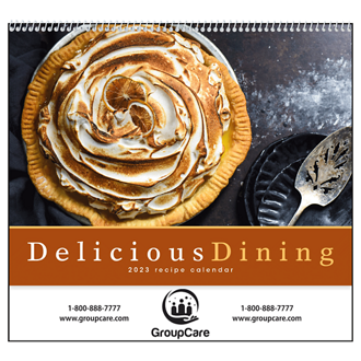 Customized Good Value™ Delicious Dining Calendar (Spiral)