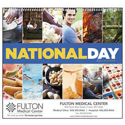 Customized Good Value™ National Day Calendar (Spiral)