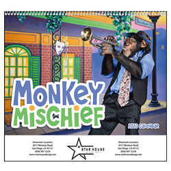 Customized Good Value™ Monkey Mischief Calendar (Spiral)