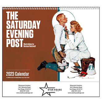 Customized The Saturday Evening Post by N Rockwell Spiral Calendar