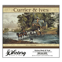 Customized Good Value™ Currier & Ives Calendar (Spiral)