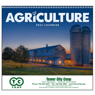 Customized Good Value™ Agriculture Calendar (Spiral)
