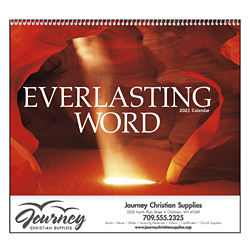Customized Everlasting Word Calendar w/ Funeral Planning Form