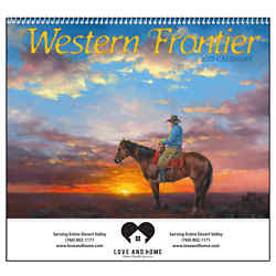 Customized Good Value™ Western Frontier Calendar (Spiral)