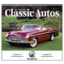 Customized Good Value™ Classic Autos Calendar (Spiral)