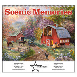 Customized Good Value™ Scenic Memories Calendar (Spiral)