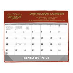 Customized Good Value™ Small Vinyl Desk Pad Calendar