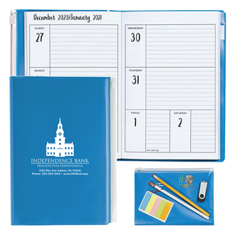 Customized Good Value™ Monthly Weekly Planner w/Clear Pocket