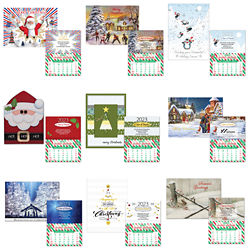 Customized Christmas Card with Matching Monthly Magnetic Calendar