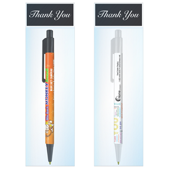 Customized Colorama Pen with Thank You Gift Bag