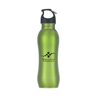 Customized Stainless Steel Grip Water Bottle - 25 oz