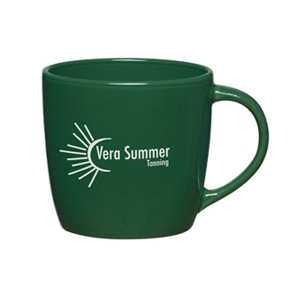 Customized 12 Oz Colored Café Mug