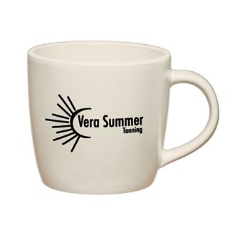 Customized 12 Oz White Café Mug