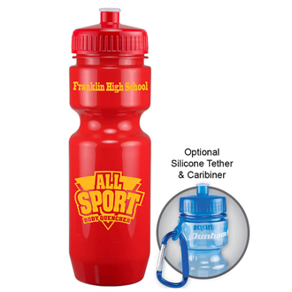 Customized Sports Bottle with Push/Pull Top - 22 Oz