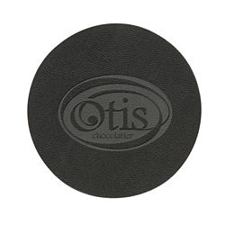 Customized Bonded Leather Coaster - Debossed - Individual