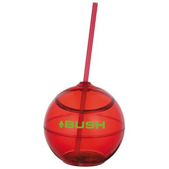 Customized Fiesta Ball Tumbler with Straw - 20 oz
