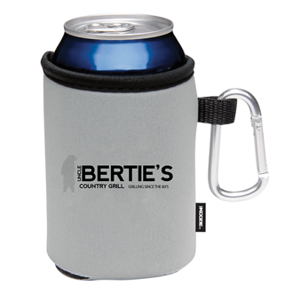 Customized Collapsible KOOZIE® Can Kooler with Carabiner