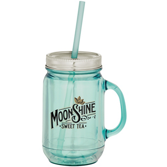Customized Vintage Double Wall Mason Jar Tumbler - 20 oz