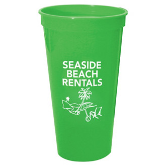Customized Solid Color Stadium Cup with Logo - 24 Oz