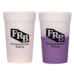 Customized Color Changing Stadium Cup - 17 oz