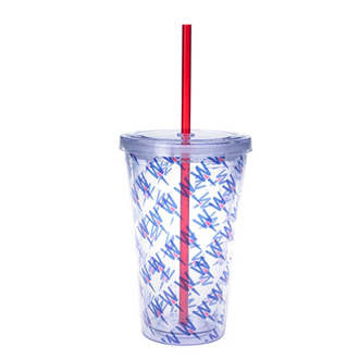 Customized Double Wall Acrylic Tumbler with Insert - 16 Oz