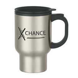 Customized Stainless Steel Travel Mug with Sip Thru Lid-16 oz
