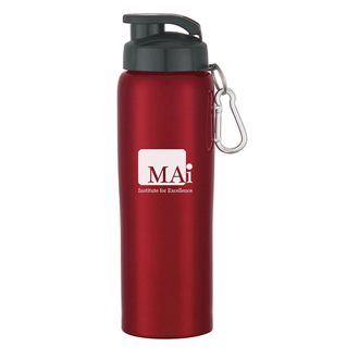 Customized Stainless Steel Bike Bottle - 24 oz