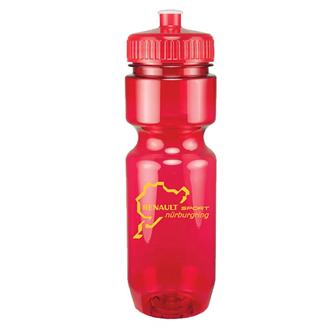 Customized Translucent Push Pull Bike Bottle - 22 Oz