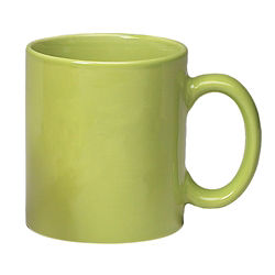 Customized Stoneware Mug with C Handle-Solid Colours - 11oz