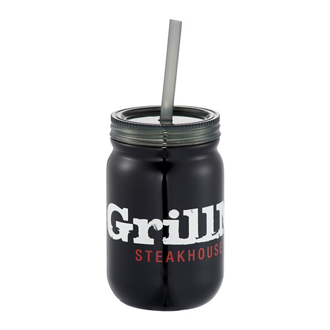Customized Stainless Mason Jar Tumbler - 24 Oz
