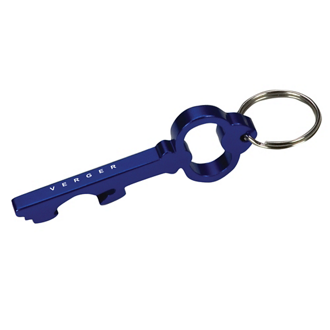 Customized Key Shape Bottle Opener Key Ring