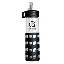 Customized Sip-N-Go Glass Water Bottle - 20 oz