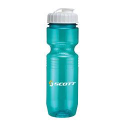 Customized Translucent Jogger Bottle-Flip Top Lid - 26 Oz