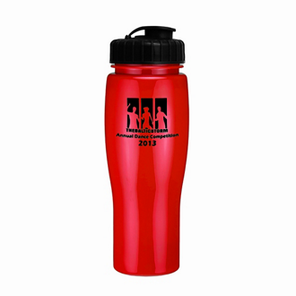Customized Contour Bike Bottle-Flip Top Lid - 24 oz