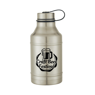 Customized Stainless Steel Wide-Mouth Growler - 64 oz