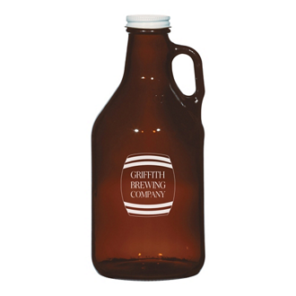 Customized Amber Malt Growler - 32 oz