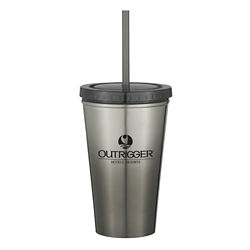 Customized Stainless Steel Double Wall Chroma Tumbler - 16 oz