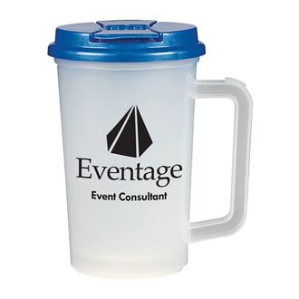 Customized Double Wall Tumbler with Handle - 22 oz