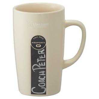 Customized ID Chalkboard Ceramic Mug - 16 oz