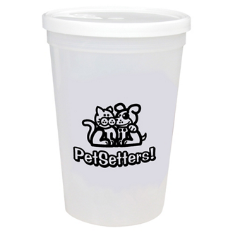 Customized Shaker Stadium Cup with Lid - 16 Oz