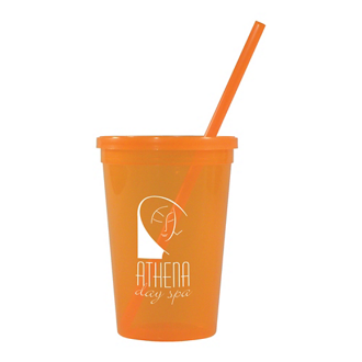 Customized 16 Oz Jewel Tumbler with Lid and Straw