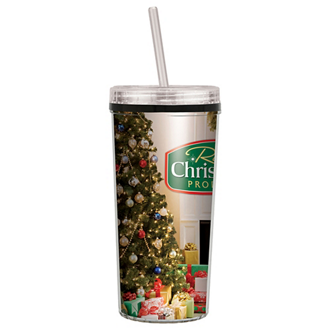 Customized Niagara Tumbler with Lid/Straw-Full Color - 16 oz