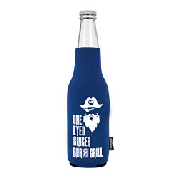 Customized Neoprene Zip Up Bottle KOOZIE® Kooler