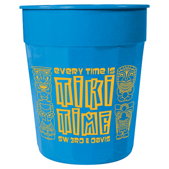 Customized Fluted Stadium Cup - 24 Oz