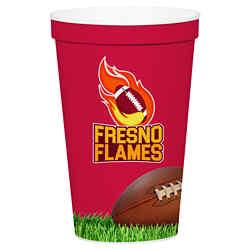 Customized Full Color Stadium Cup - White - 12 oz