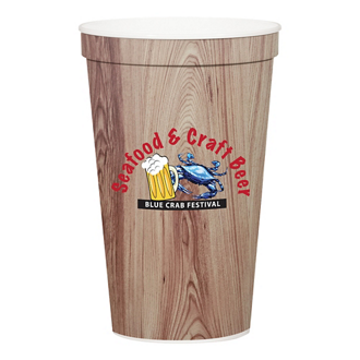 Customized Full Color Stadium Cup - White - 22 oz